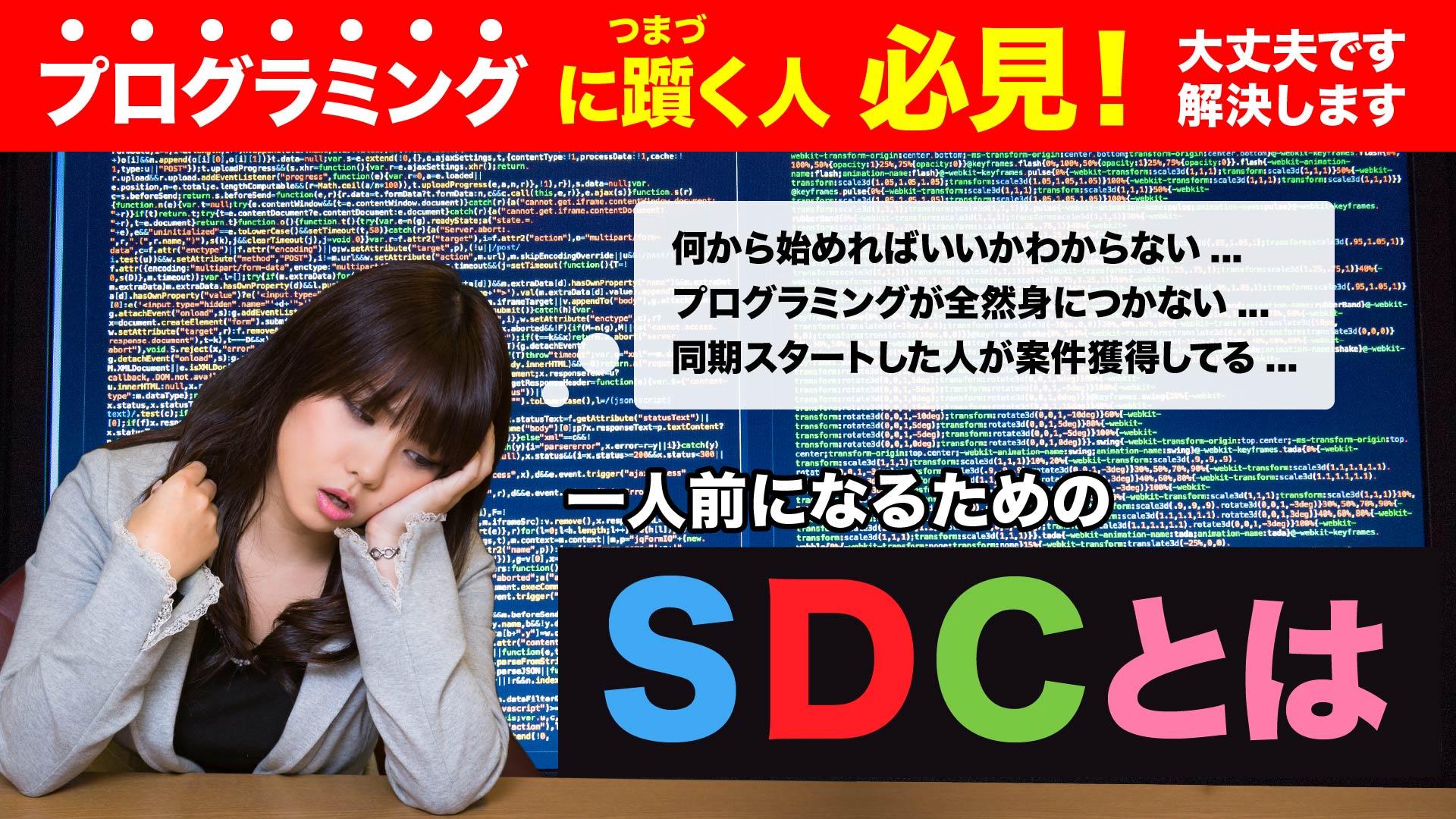 プログラミングで躓く人必見!一人前になるためのSDCとは